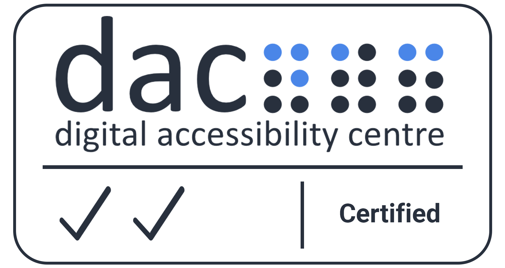 Digital Accessibility Centre Accreditation Certificate [Opens in a new window]