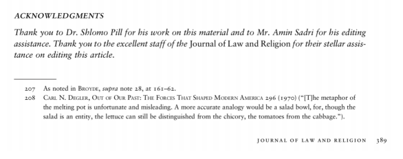 Example acknowledgments line for JLR article