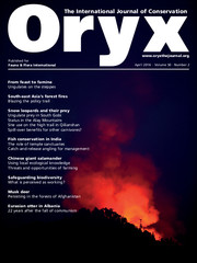 Oryx Volume 50: Issue 2 Cover