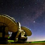 ALMA telescopes under stars