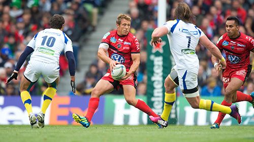 Jonny Wilkinson in action for Toulon