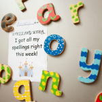 spelling fridge magnets