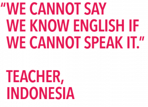 Teaching speaking survey quote know english