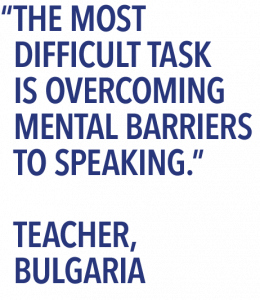 Teacher survey quote mental barriers