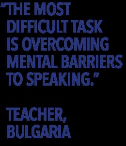 Teacher survey quote mental barriers
