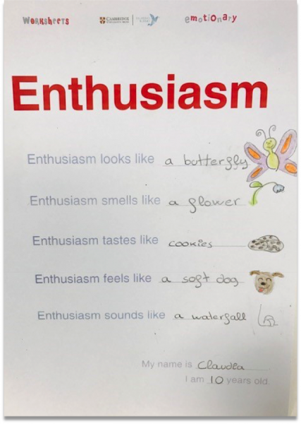 Emotions in the classroom drawing 6: Enthusiasm