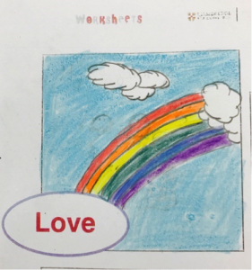 Emotions in the classroom drawing 2: Love