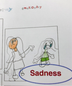 Emotions in the classroom drawing 4: Sadness