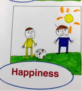 Emotions in the classroom drawing 5: Happiness