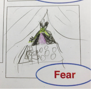 Emotions in the classroom drawing 1: Fear