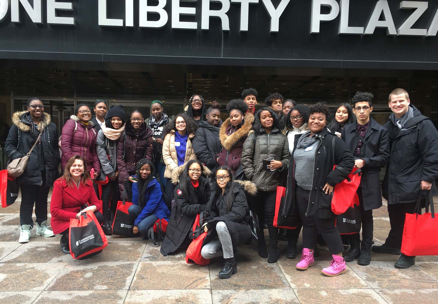 Local students visited the Press in New York, their first activity with Charity of the Year, PENCIL