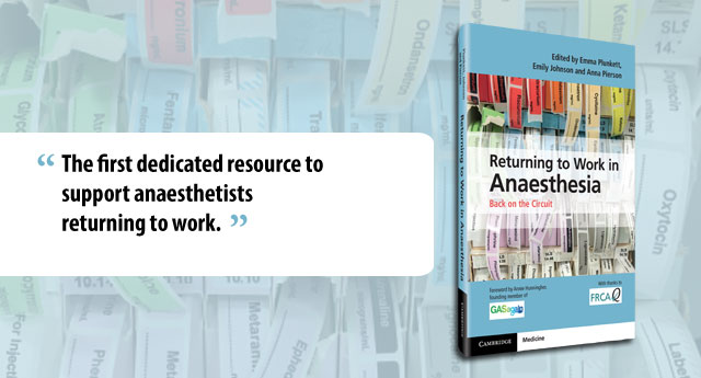 Returning to Work in Anaesthesia Banner