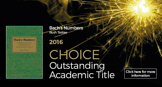 Bach's Numbers Winner of 2016 Choice Outstanding Academic Title Award