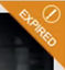 Orange expired badge in upper right corner of expired titles