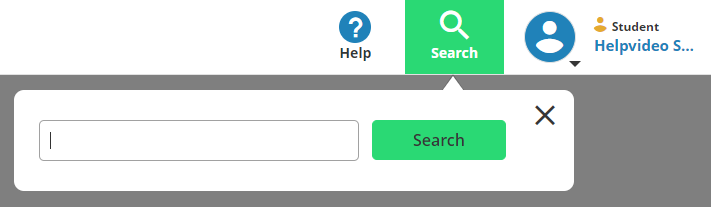 Search box available within a title