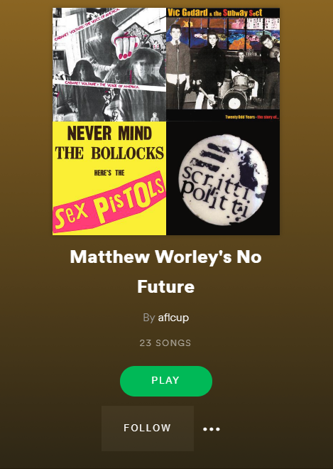 Matthew Worley's Spotify Playlist