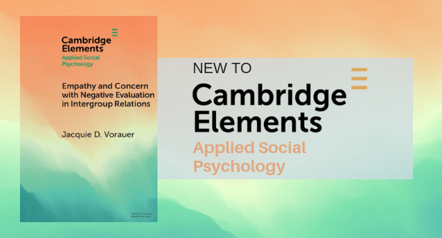 Cambridge Elements in Applied Social Psychology