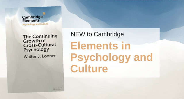 Cambridge Elements in Psychology and Culture