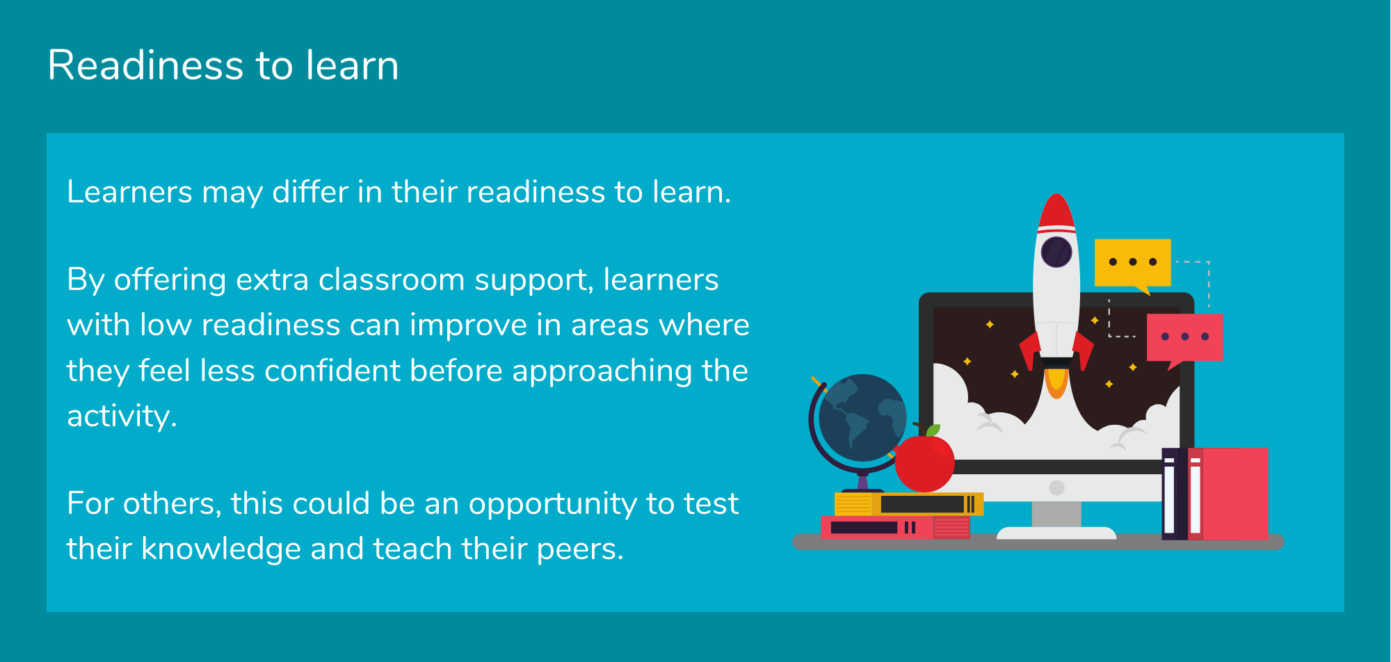 Readiness to learn tip