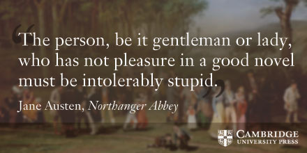 Jane Austen quote from Northanger Abbey