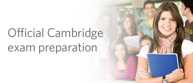 Official Cambridge Exam Prep catalogue listing banner