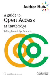 Read our Author Hub guide on Open Access at Cambridge