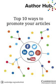 Author Hub Top 10 Ways to promote your articles