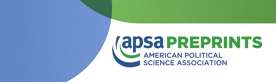 APSA Preprints header