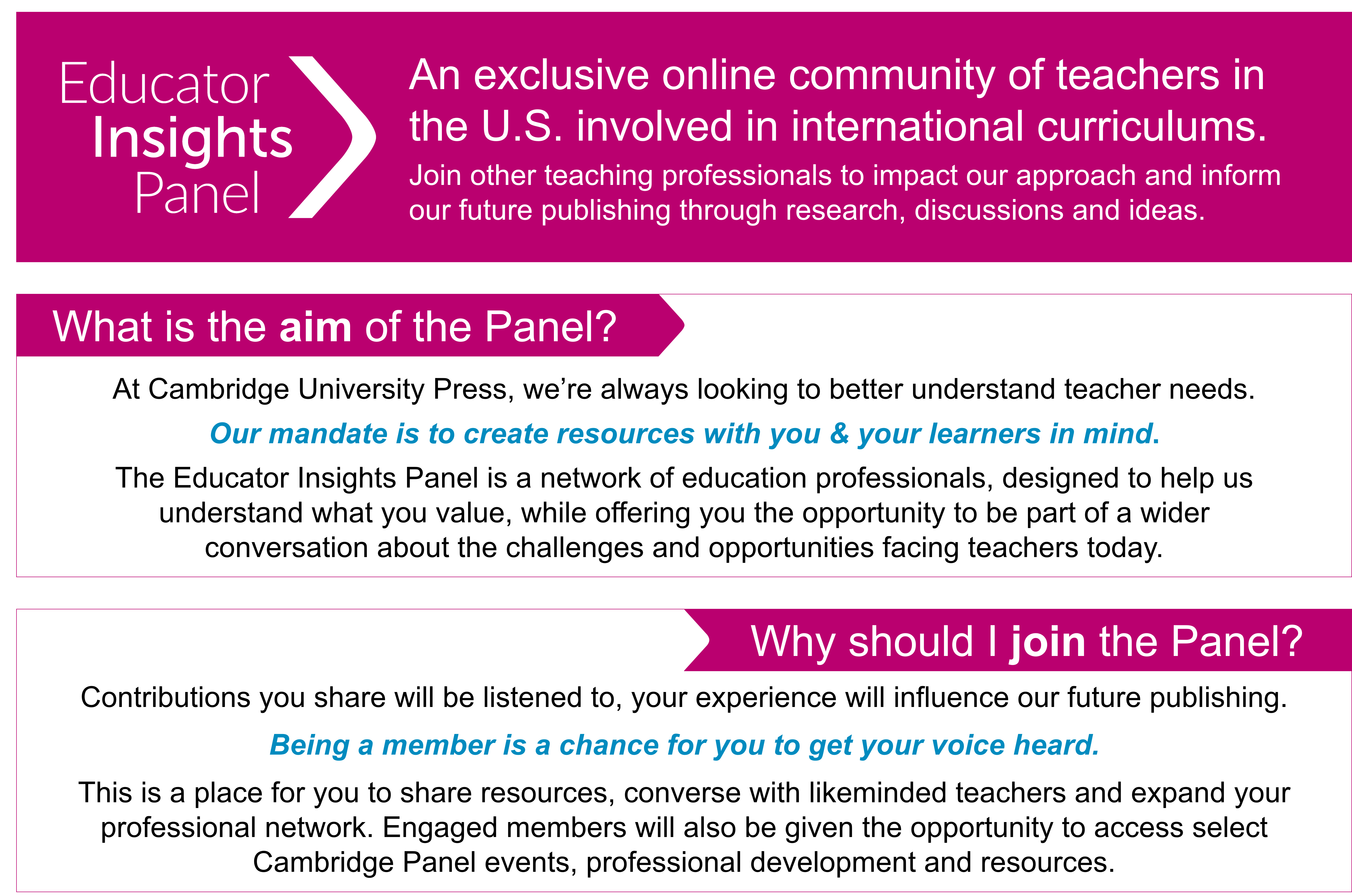 About the Educator Insights Panel