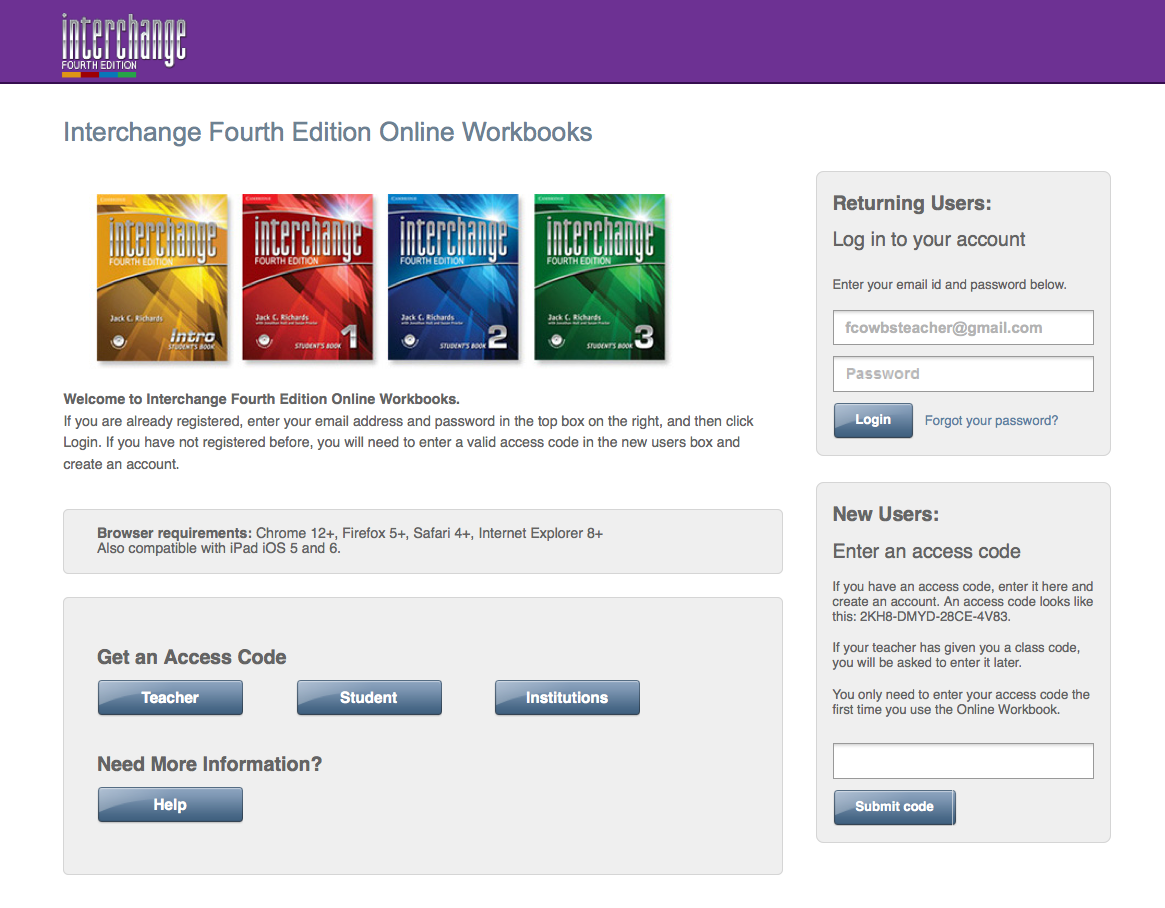 Interchange 4th edition | Workbook | Cambridge University Press